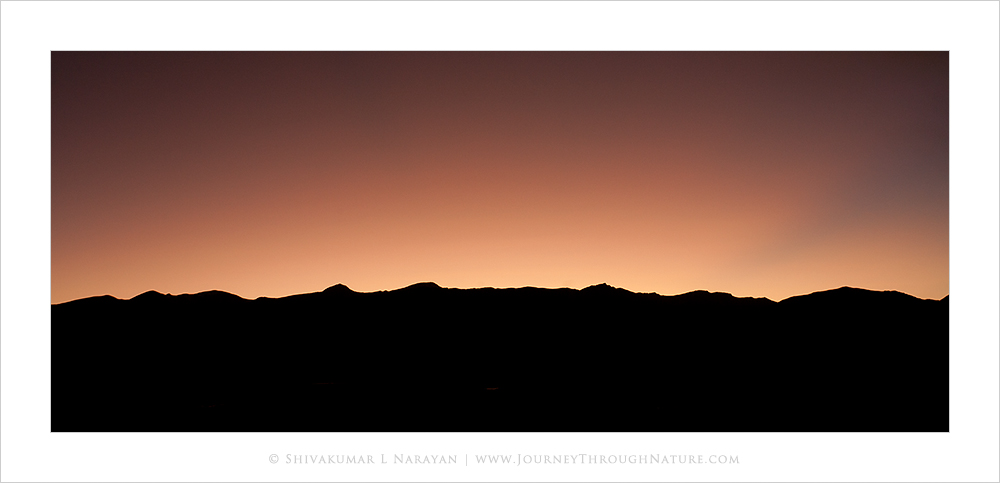 Sky after sunset in Ladakh