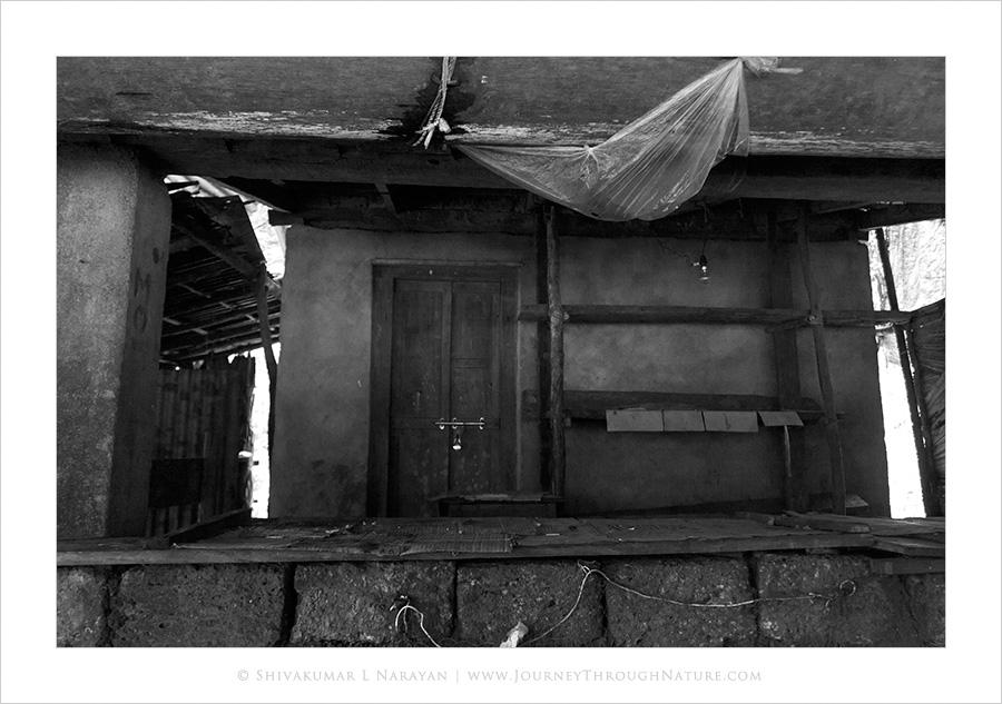 Closed doors of a teashop, Yana