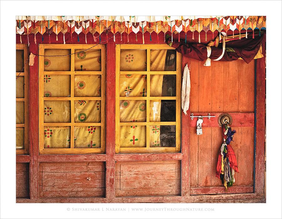 Closed doors of a monastery, Ladakh