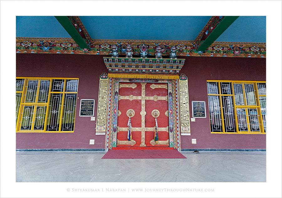 Closed doors of a monastery, Spiti