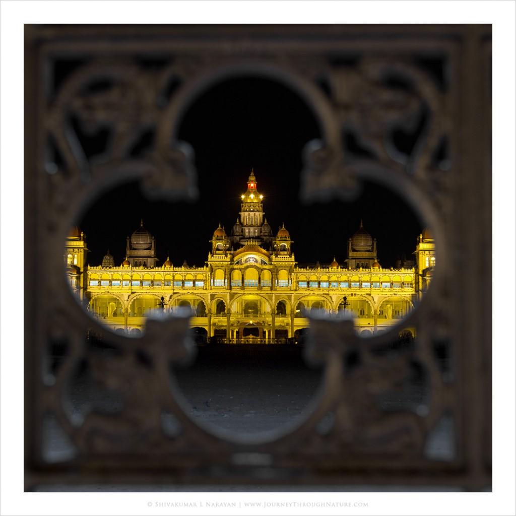 Night view of Mysore Palace