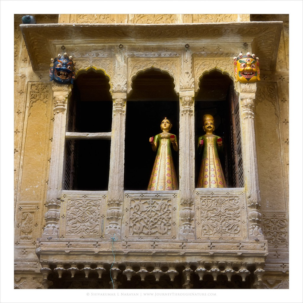 Photograph of a haveli in Jaisalmer