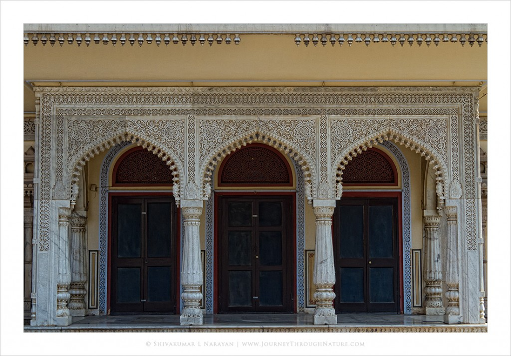 Carved Marble Arches in Jaipur City Palace