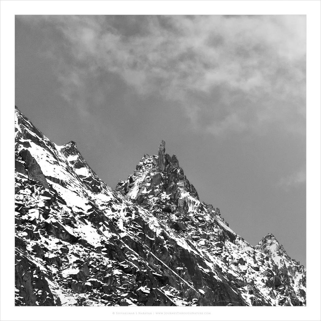 Kinnaur Kailash as seen from Kalpa, Himachal Pradesh