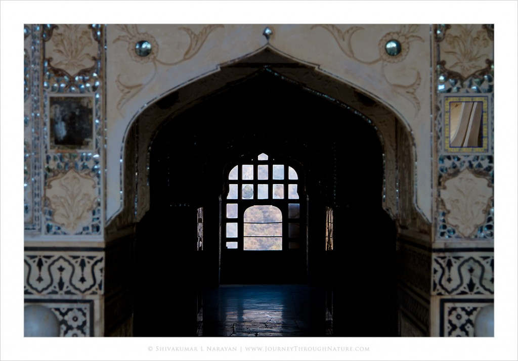 Palace of mirrors in Amer Fort, Jaipur