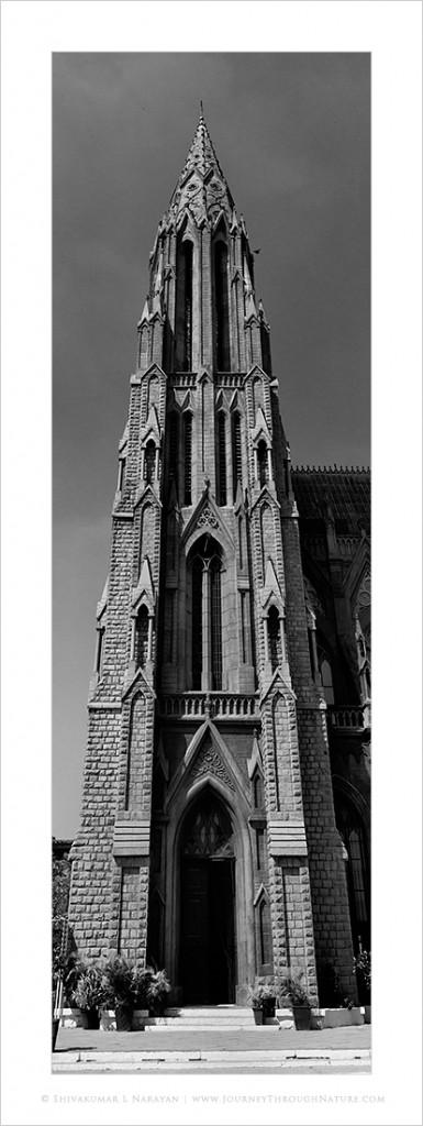 Panoramic image of St Philomena Church, Mysore
