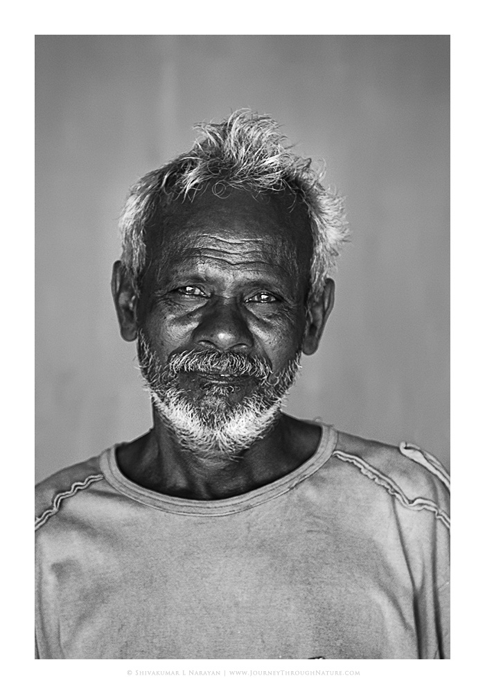 Photo of a fisherman from Andaman island