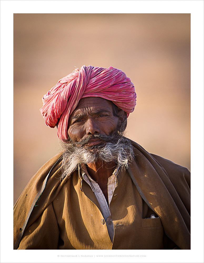 Photograph of a farmer from Rajasthan