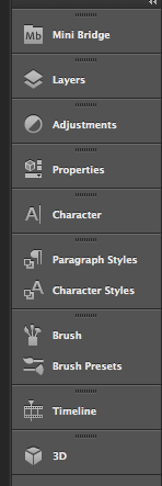 Changes to the pannel in the Photoshop CS6