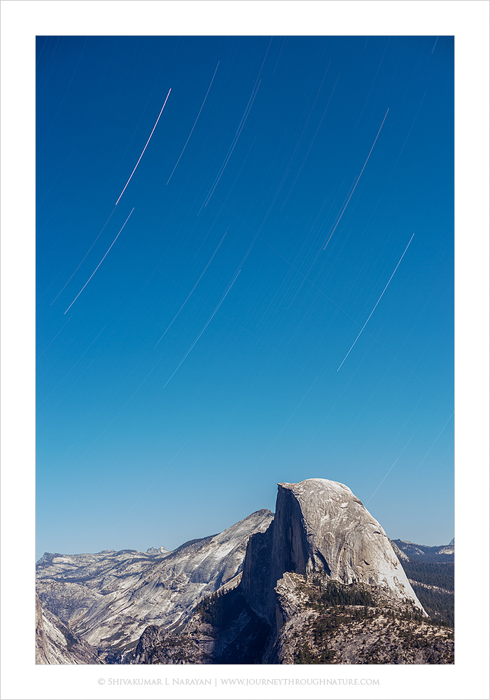 Star Trails over Half Dome, Yosemite