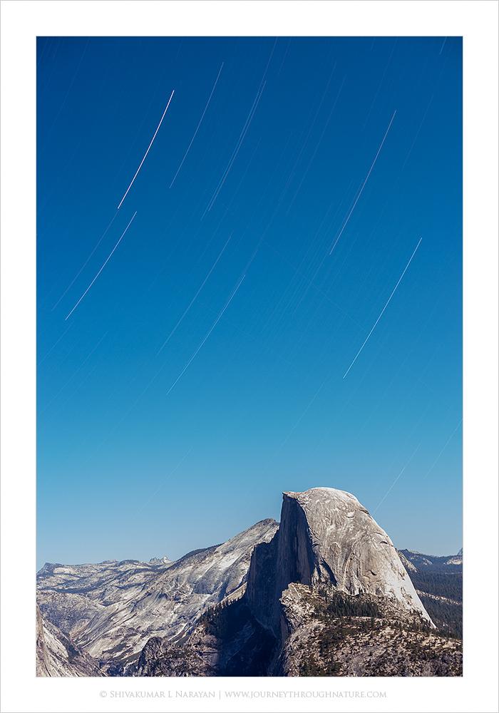Star Trails over Half Dome, Yosemite
