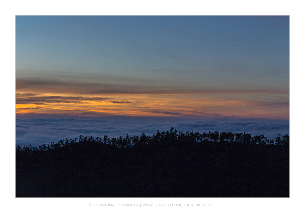 Sunrise on Nandi Hills, Bangalore