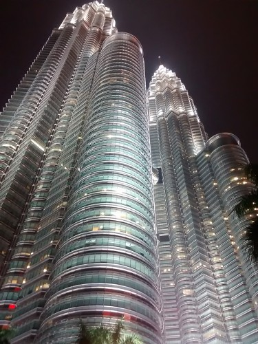 Petronas Twin Towers at night, Malaysia